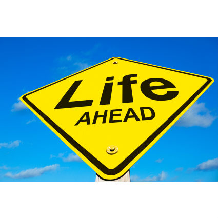 Life Ahead sign-blog