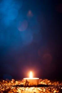 Christmas tea light candle