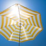 Umbrella in summer sun