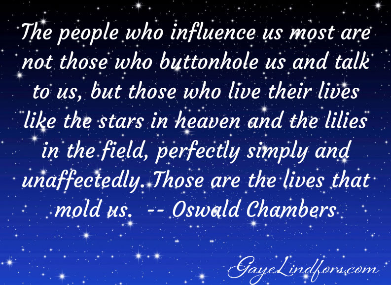 Lives that Mold Us, from Gaye Lindfors