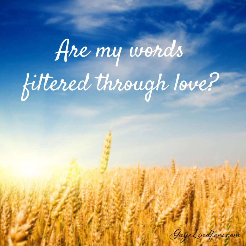 My Words and Calvary Love